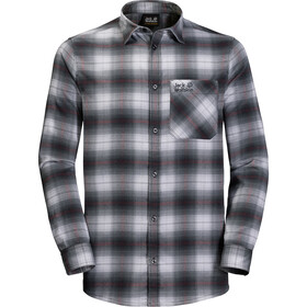Jack Wolfskin Light Valley T-shirt manches longues Homme, ebony checks
